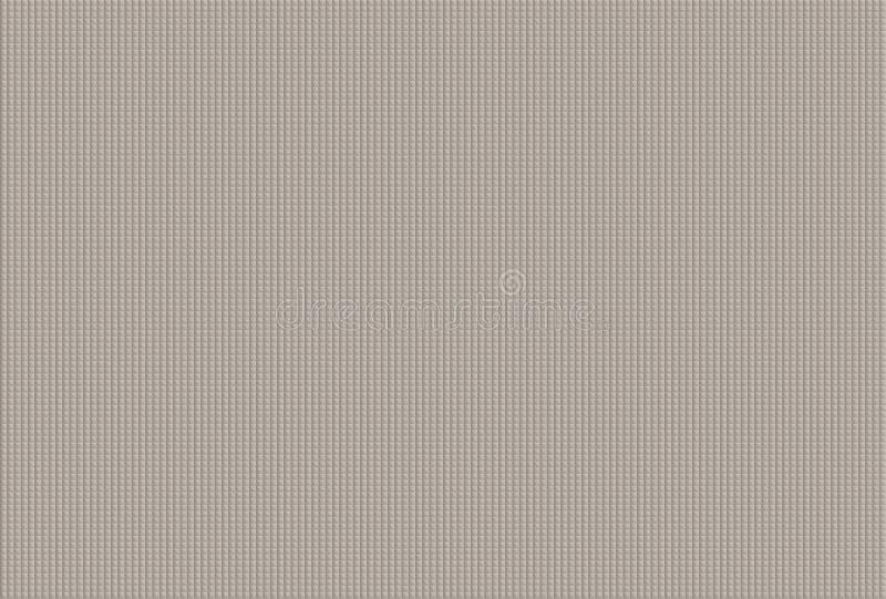 maakten de mozaïek kleine vierkanten in cellen die tegels trekken van de volumetextuur natuurlijke grijs als achtergrond vast royalty-vrije illustratie