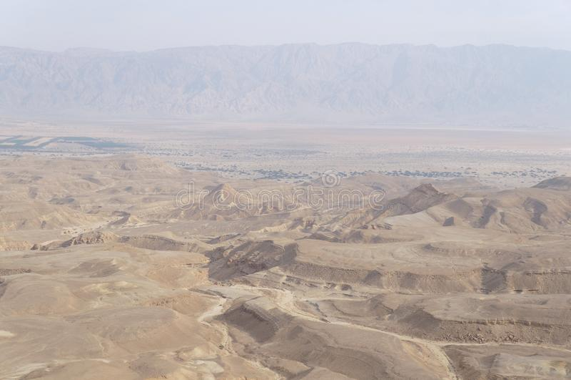 Maale Shaharut in Arava desert royalty free stock images