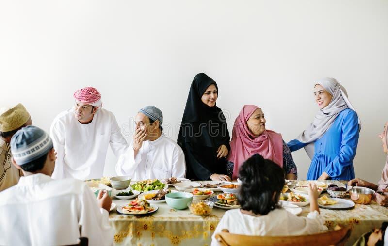 Maaltijd de van het Middenoosten van Suhoor of Iftar- stock foto