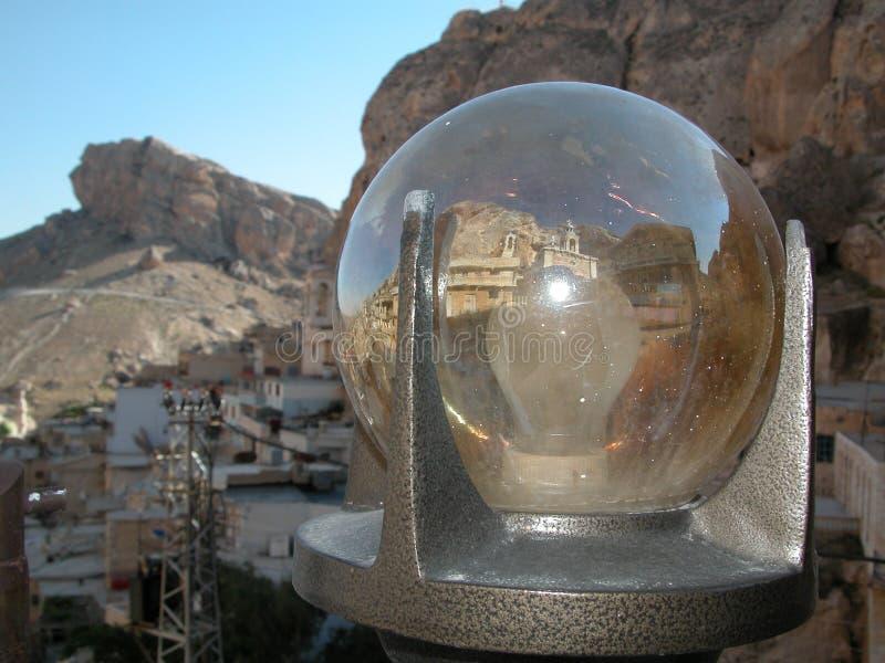 Maalula、叙利亚、修道院和基督徒村庄 大马士革, 2004年 免版税库存图片