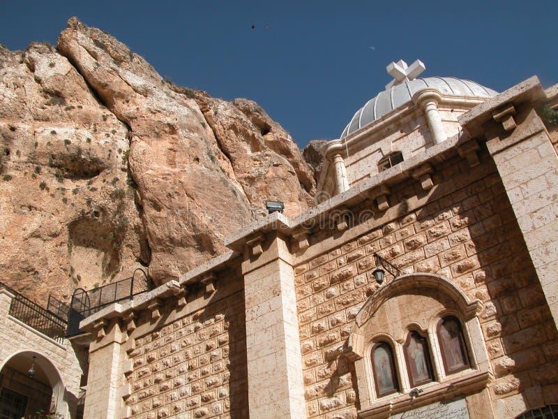 Maalula、叙利亚、修道院和基督徒村庄 大马士革, 2004年 免版税库存照片