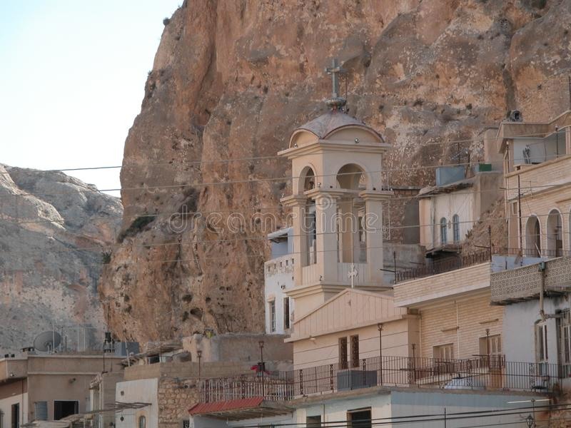 Maalula, Syria, Monastery and Christian village. Damascus, 2004. Maalula is a Christian village in Syria that speaks Aramaic language of Jesus. There're royalty free stock photo