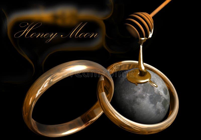 Maan 2 van de honing royalty-vrije illustratie