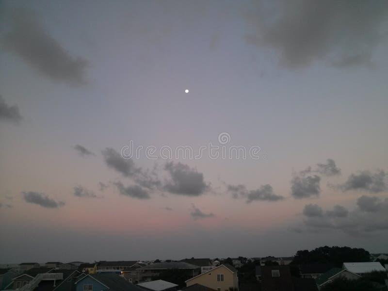 Maan in Dag stock foto