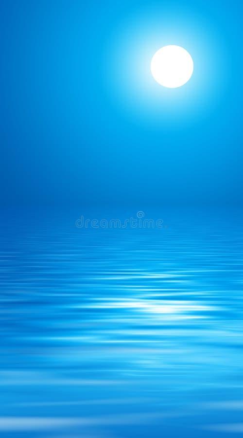 Maan en blauwe hemel stock illustratie