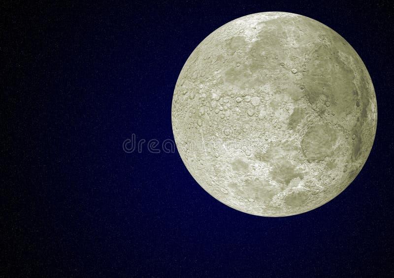 Maan en hemel stock fotografie