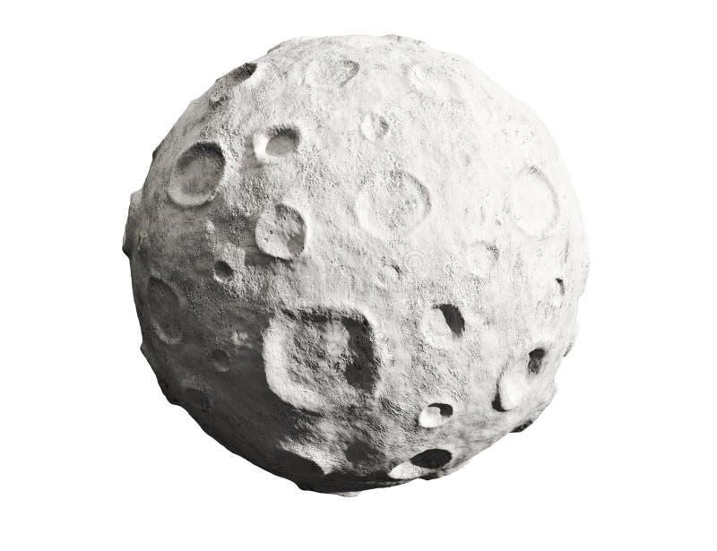 Maan en kraters. Stervormig. royalty-vrije illustratie