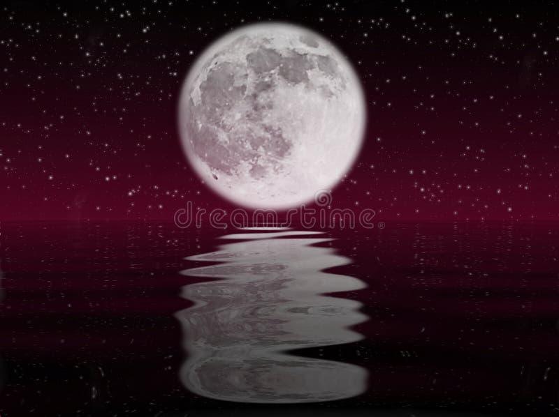 Maan en water royalty-vrije illustratie