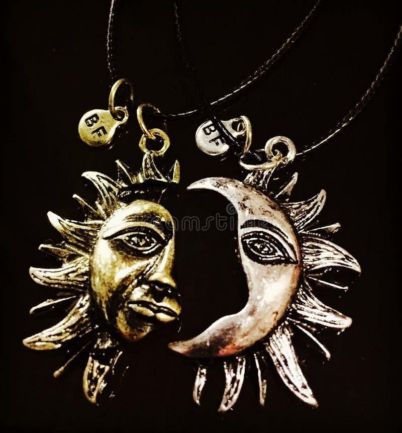 Maan en Zon stock fotografie