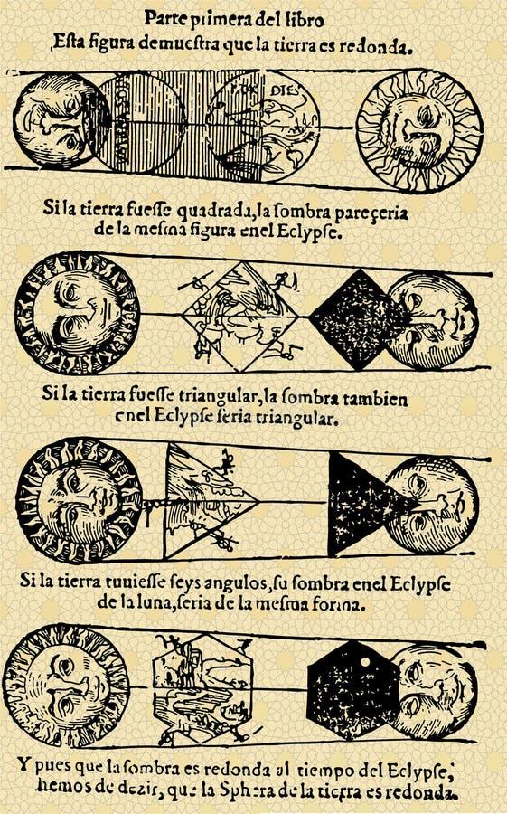 Maan en zon royalty-vrije illustratie
