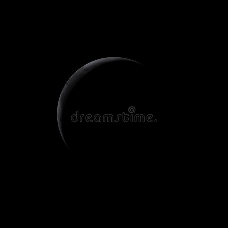 Maan - halve maan - strook royalty-vrije illustratie