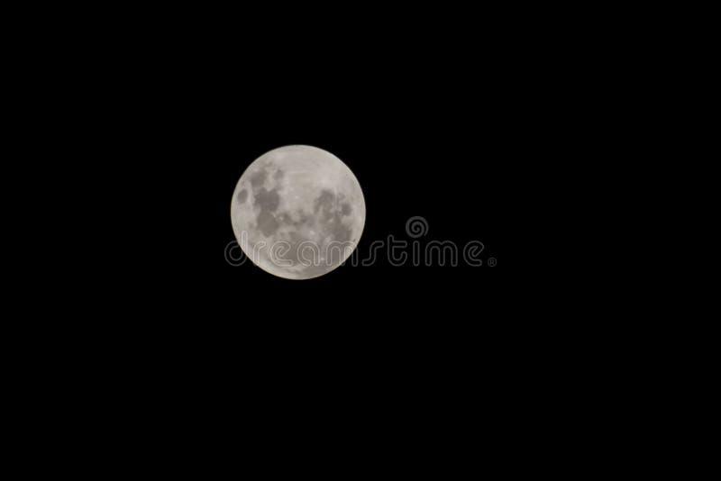 Maan in hemel royalty-vrije stock afbeelding