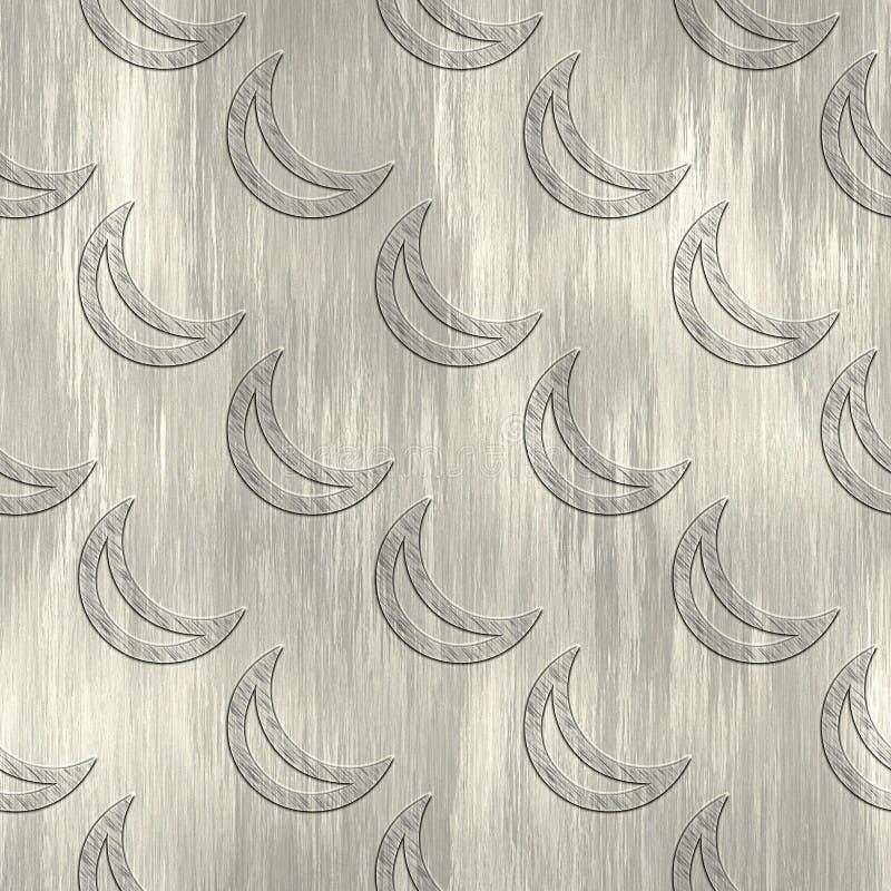Maan Het patroon van het metaal stock illustratie