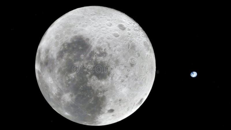 Maan in kosmische ruimte, oppervlakte Hoog - kwaliteit, resolutie, 4k Dit die beeldelementen door NASA worden verschaft
