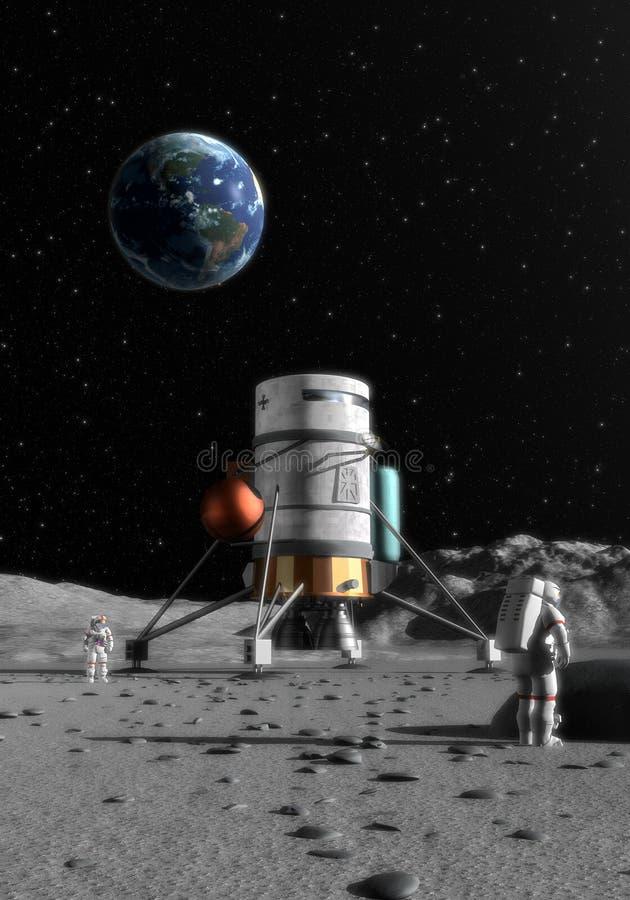 Maan lander royalty-vrije illustratie