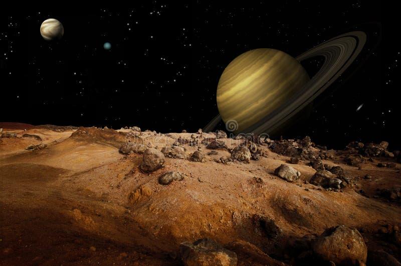 Maan Landschap vector illustratie