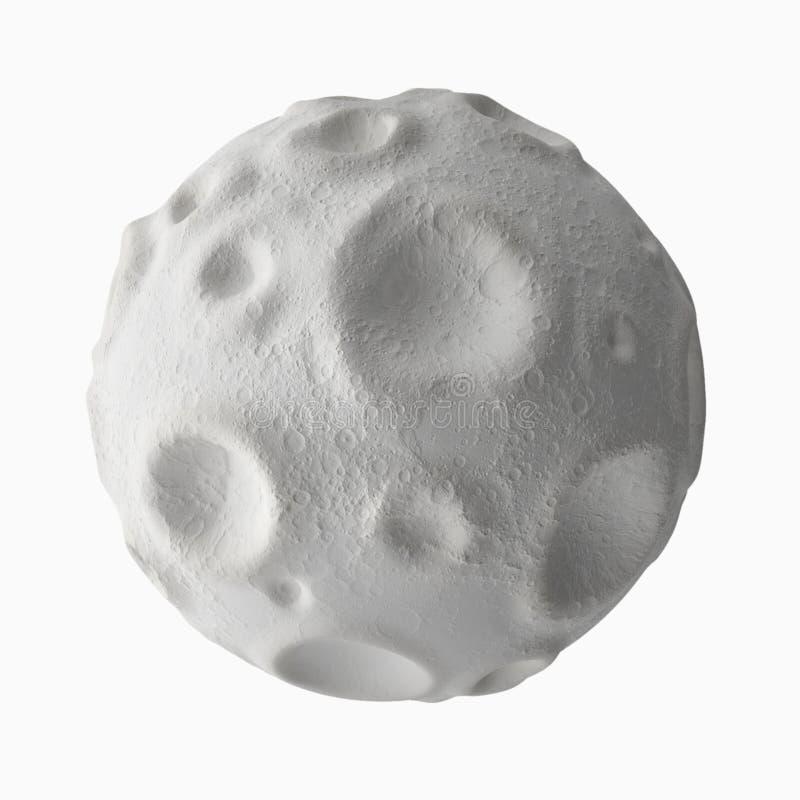 Maan met kraters op de oppervlakte royalty-vrije illustratie