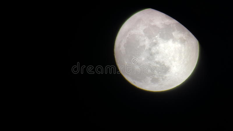Maan, Nacht, mooi gloeien, rust royalty-vrije stock afbeeldingen