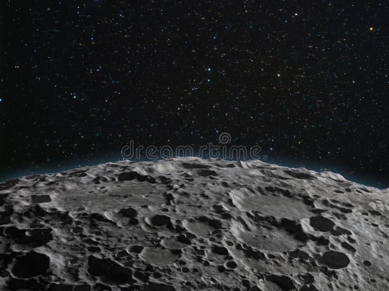 Maan oppervlakte royalty-vrije stock afbeelding