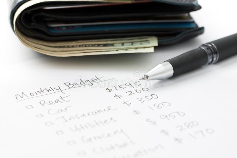Maandelijkse begroting planning royalty-vrije stock afbeeldingen