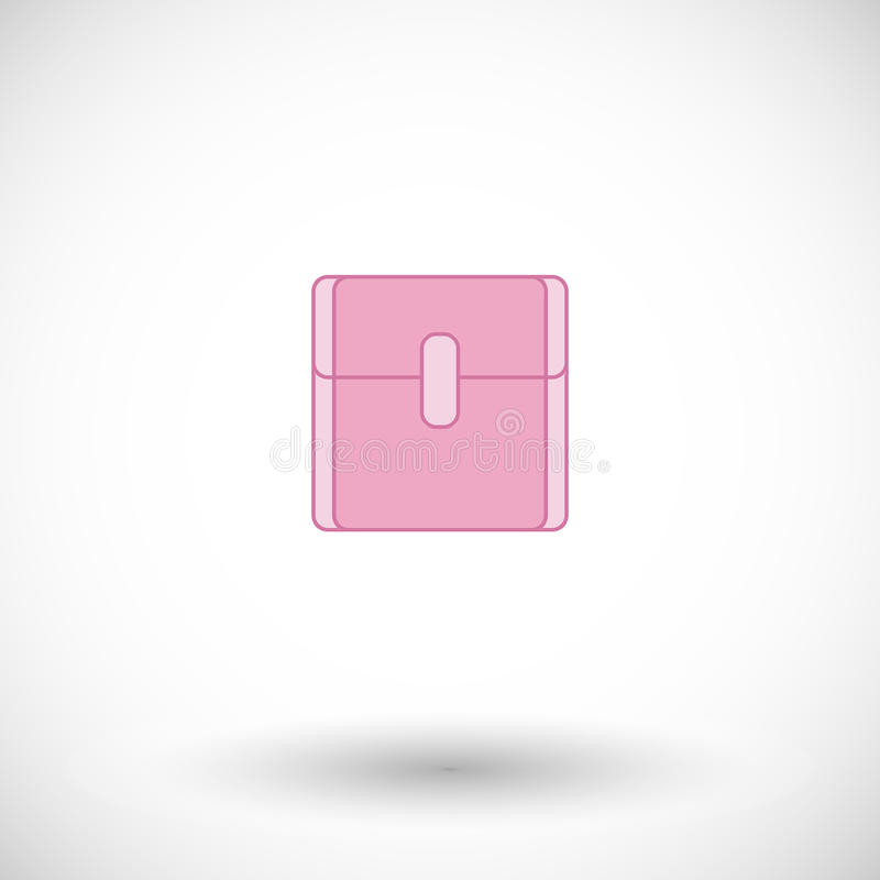 Maandverband vlak pictogram stock illustratie