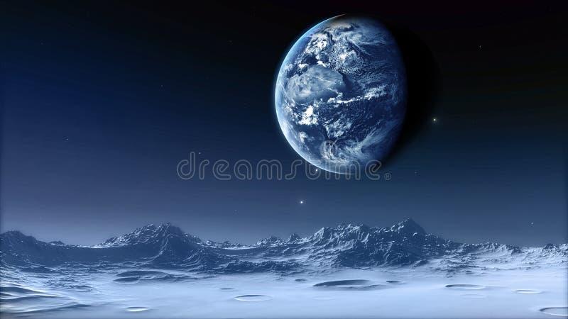 Maanelementen van dit die beeld door NASA wordt geleverd stock foto's