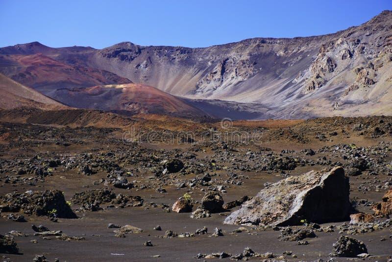 Maanlandschap in het nationale park van Haleakala in Hawaï royalty-vrije stock afbeelding