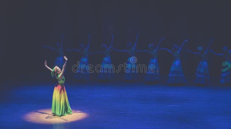 Maanlicht van meditatie-dans de volksdans dramaaxi sprong-Yi stock afbeelding