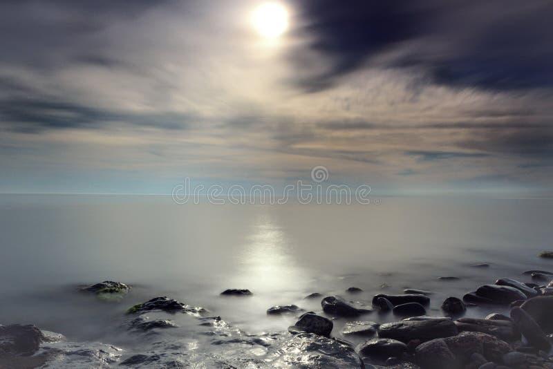 Maanlichtweg stock fotografie