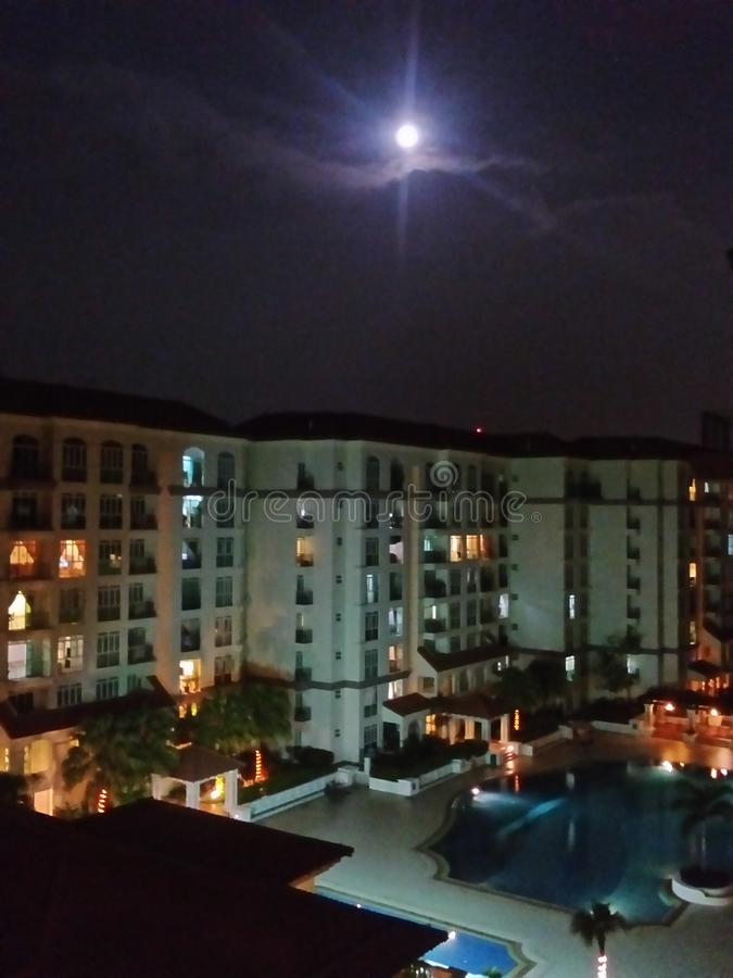 Maanlichtzaligheid stock afbeelding