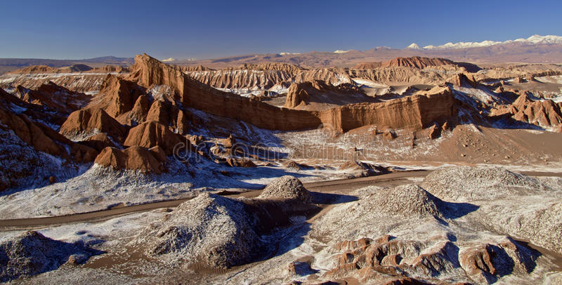 Maanvallei, Atacama stock afbeelding