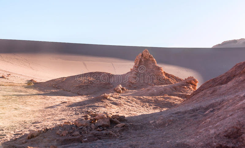 Maanvallei, Atacama, Chili stock fotografie