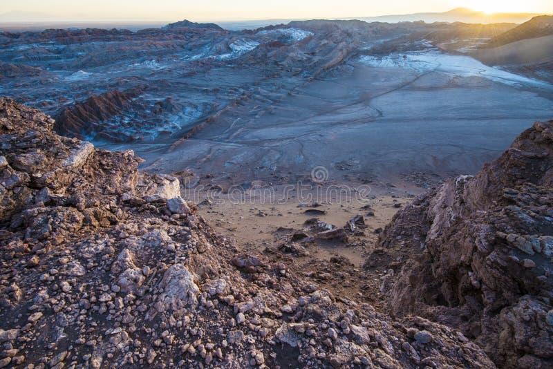 Maanvallei, Atacama, Chili royalty-vrije stock foto