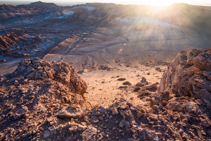 Maanvallei, Atacama, Chili royalty-vrije stock afbeeldingen