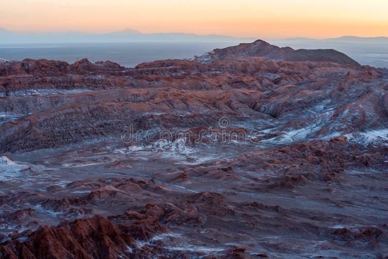 Maanvallei, Atacama, Chili stock afbeelding
