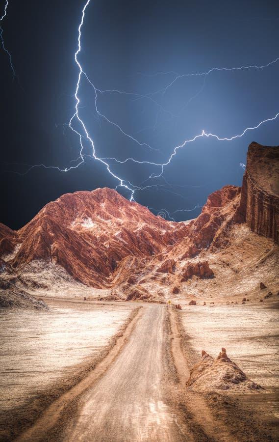 Maanvallei in de Atacama-Woestijn stock foto's