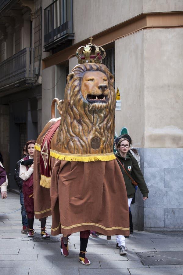 22 maart, 2015 Castellersfestival in Barcelona (Spanje) royalty-vrije stock fotografie