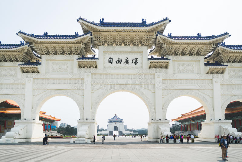 18 Maart 2017 - Chiang Kai Shek Memorial Hall, Tapiei, Taiwan royalty-vrije stock foto