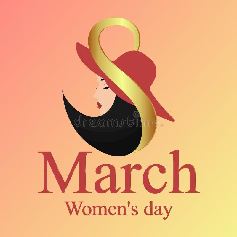 8 Maart Gelukkige moeder`s dag Achtergrondvakantie vector illustratie