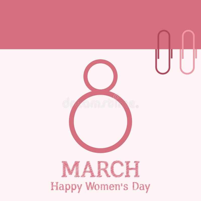 8 maart Internationale Vrouwen` s Dag vector illustratie