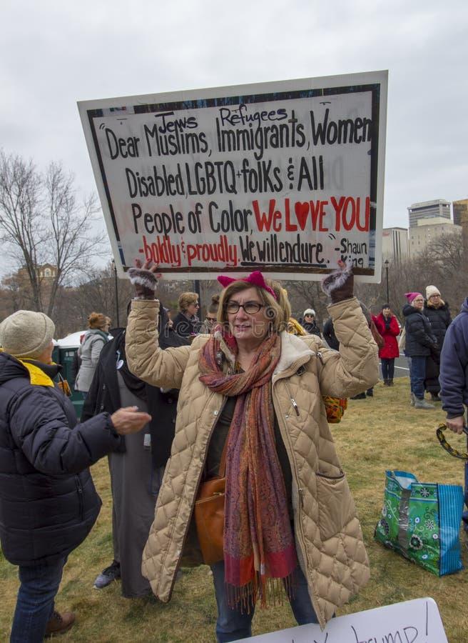 Maart 2019 van de Vrouwen van Hartford royalty-vrije stock afbeeldingen