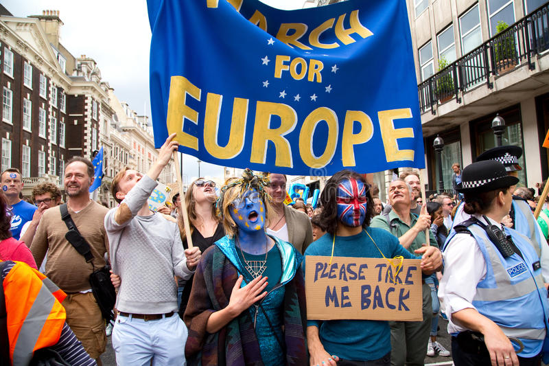Maart voor Europa royalty-vrije stock fotografie