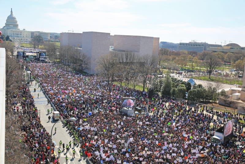 Maart voor Ons Leven protesteert 4, Washington, D C stock foto's