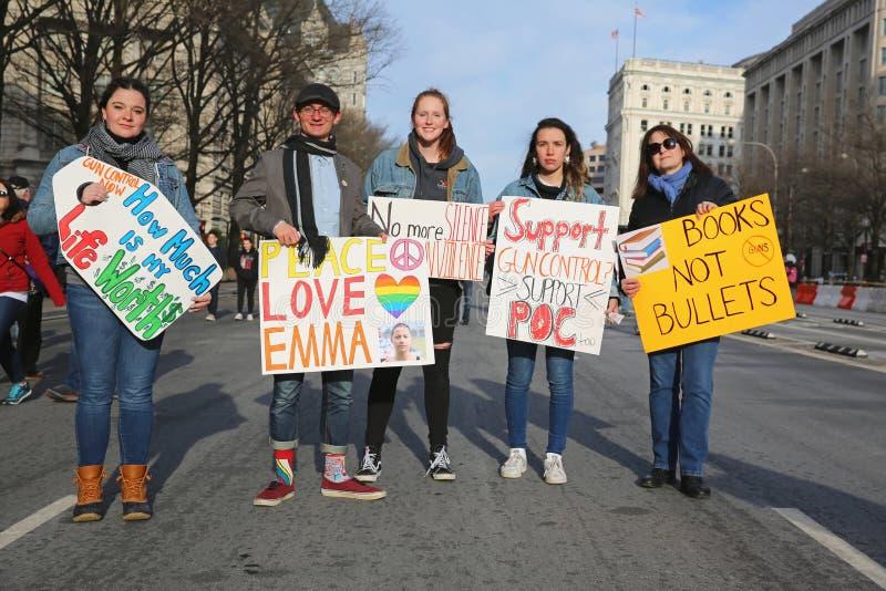 Maart voor Ons Leven protesteert 22, Washington, D C stock foto's