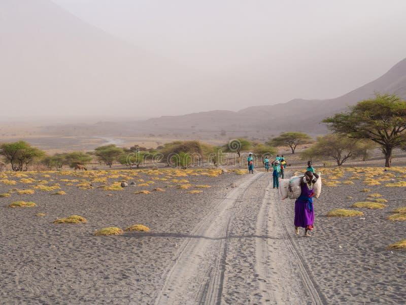 Maasai在阿鲁沙 库存照片