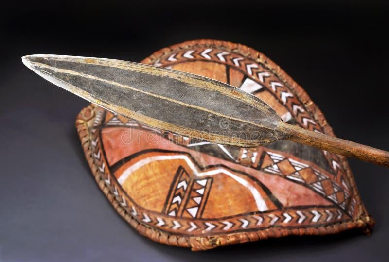 Maasai矛头 库存照片