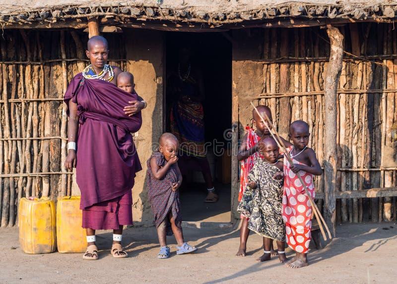 Maasai stockfotos
