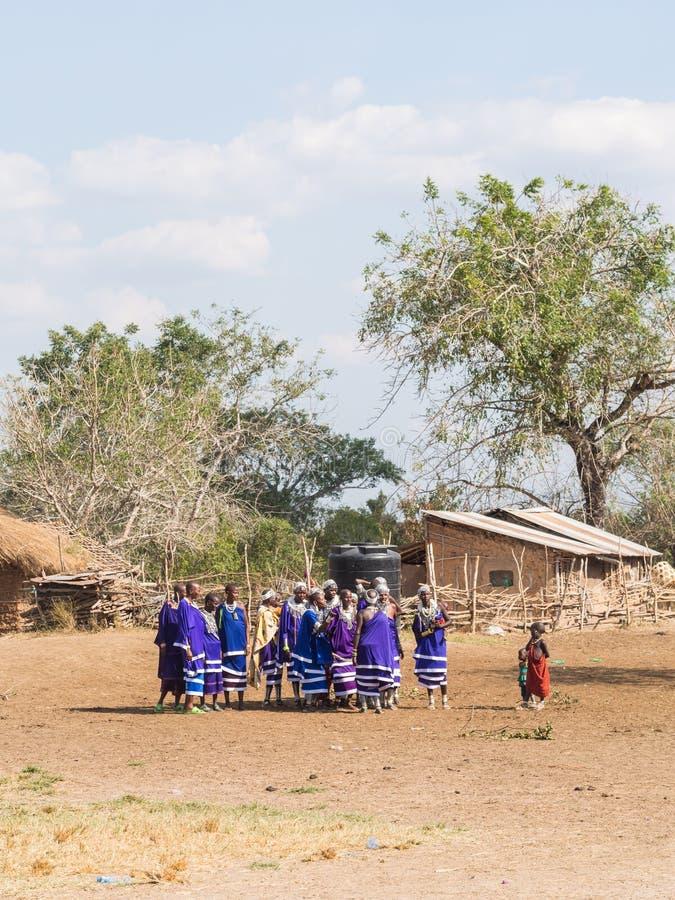 Maasai em Tanzânia fotografia de stock royalty free