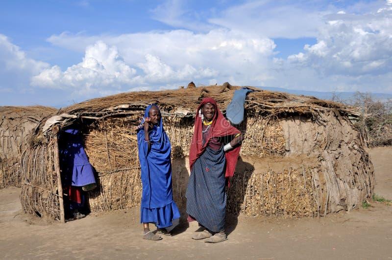 Maasai folk arkivfoton