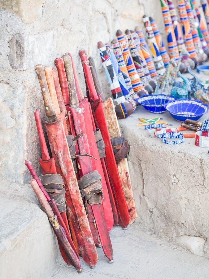 Maasai marknad royaltyfri foto